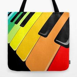 Piano Keyboard Rainbow Colors  Tote Bag