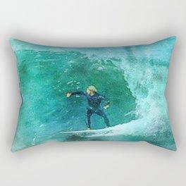 Watercolor Surf Rectangular Pillow