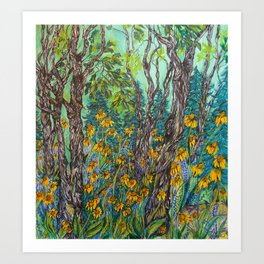 I followed the trail until the forest swallowed it whole Art Print