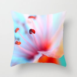Blossom in Blue Throw Pillow