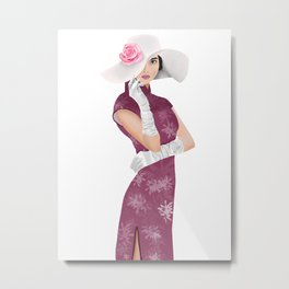 Chinese high society lady Metal Print