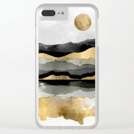 Golden Spring Moon Clear iPhone Case