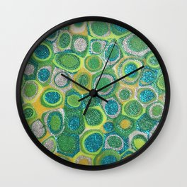 Dotty Glitter Wall Clock