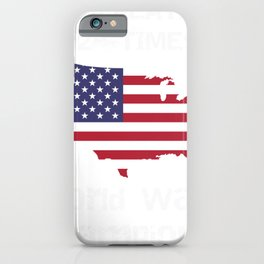 Patriotic Two Time World War Champs American Pride iPhone Case