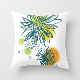 Funflower Throw Pillow