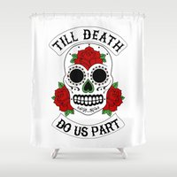 death Shower Curtains featuring Death by TAM ♡