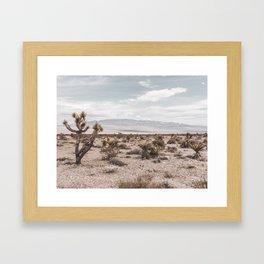 Vintage Desert Hombre // Cactus Cowboy Mojave Landscape Photograph Sunshine Hippie Mountain Decor Framed Art Print