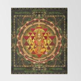 Shri Yantra- Maha Lakshmi Ashtakam- Abundance Throw Blanket