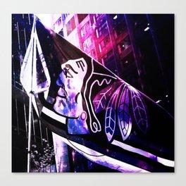 Blackhawks_nightsky Canvas Print