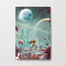 Metroid Metal Print