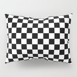 Black Checkerboard Pattern Pillow Sham