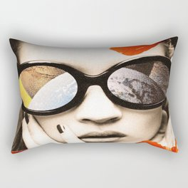 poppy pop (kate Moss) Rectangular Pillow