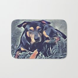 Black and Tan Coonhound Puppy Bath Mat