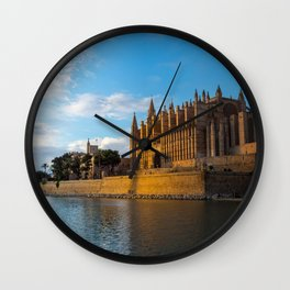 Day to night on Cathedral of Palma de Mallorca Wall Clock