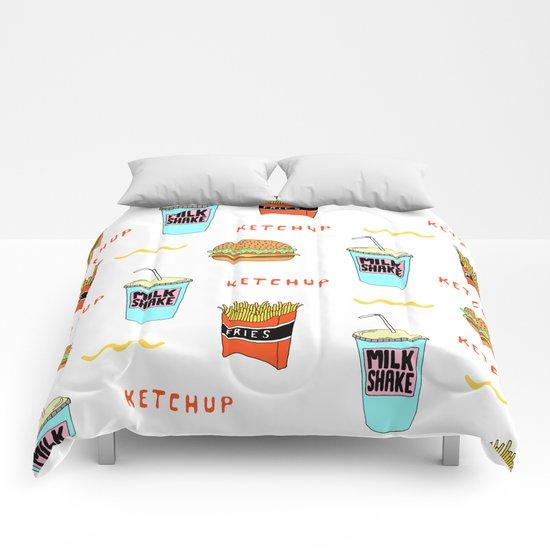 Burger Print Comforters