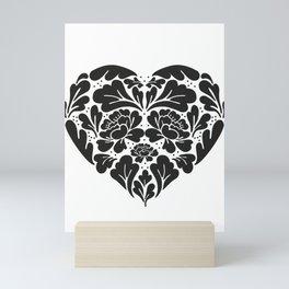 Black Heart Mini Art Print