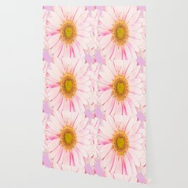 Pink flower with pink background - lovely girlish summer feeling Wallpaper