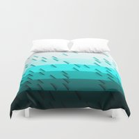 aqua Duvet Covers featuring Aqua by Luca Giobbe