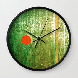 Metallic Face (Green Version) Wall Clock