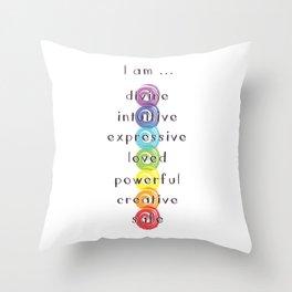 Chakra Meditation Throw Pillow