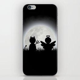 Angel and Devil Moon Meeting iPhone Skin