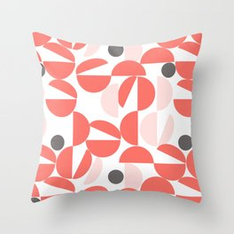 Living Coral Abstract Throw Pillow