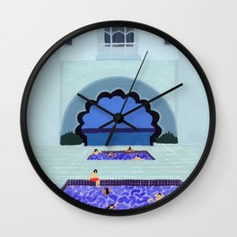 Scallop pool Wall Clock