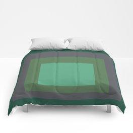 Block Colors - Greens and Grey Comforters