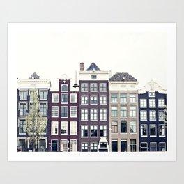 Amsterdam House Art Print