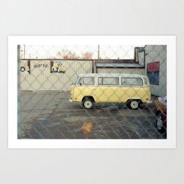 Fenced Bus. Art Print