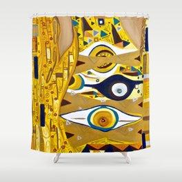 Ode to Klimt - Detail Portrait of Adele Shower Curtain