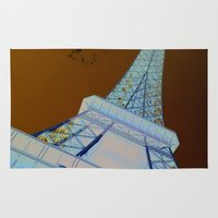 eiffel tower Area & Throw Rugs featuring Eiffel Tower by caroline