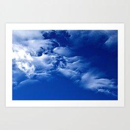 Dark blue sky Art Print