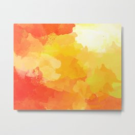 Colorful Abstract - red orange pattern Metal Print