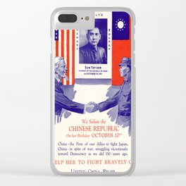 Vintage poster - China-U.S. Relations Clear iPhone Case