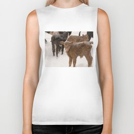 Calves in The Snow Biker Tank