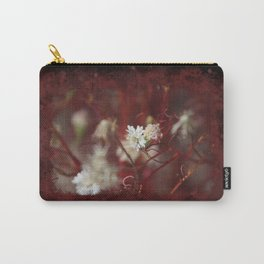 Digital Art Pincushion Wildflowers Blood Red on Black Carry-All Pouch