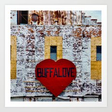 Buffalo Urban statement Art Print