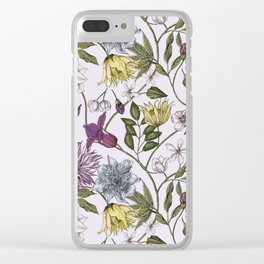 colorful floral pattern I Clear iPhone Case