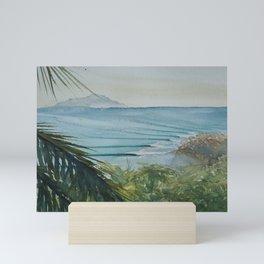 Waves & Palms Mini Art Print