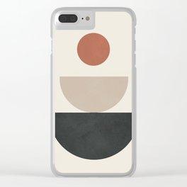 Geometric Modern Art 30 Clear iPhone Case