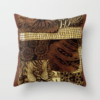 the life aquatic Throw Pillows featuring aquatic life by Marie Elke Gebhardt