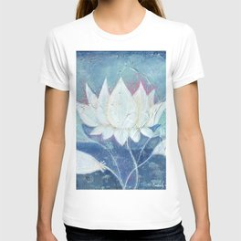 Abstract Lotus Art Acrylic Painting Reproduction by Kimberly Schulz T-shirt