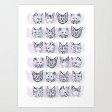 Cats! Cats! Cats! Art Print