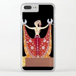 """Art Deco Design """"Venus"""" by Erté Clear iPhone Case"""