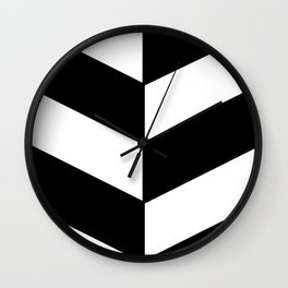 2017 COLLECTION|BLACK AND WHITE |DIAGONAL STRIPES Wall Clock