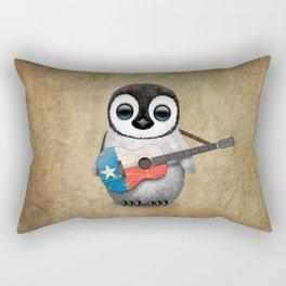 Baby Penguin Playing Texas Flag Guitar Rectangular Pillow