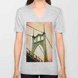 ST. JOHNS BRIDGE - PORTLAND Unisex V-Neck