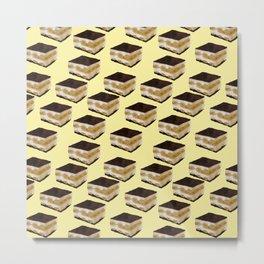 Tiramisu lover // Tiramisu pattern // food pattern Metal Print