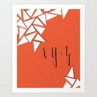 X Y +  Z Art Print
